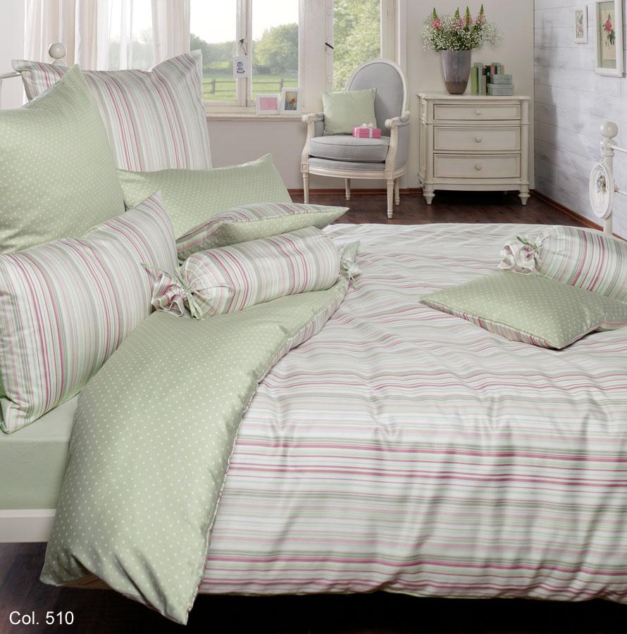 estella mako satin bettw sche leonie 7847 135x200cm lind ebay. Black Bedroom Furniture Sets. Home Design Ideas