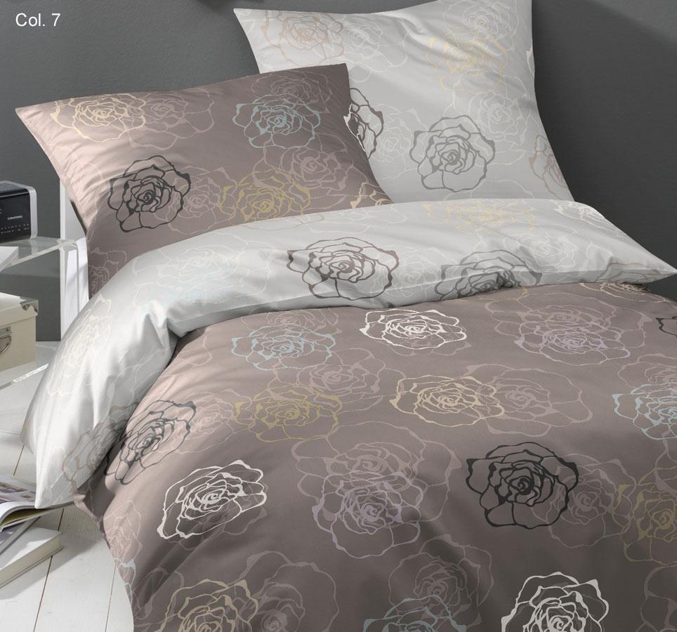 bruno banani mako satin bettw sche rose 531 nur 1x 155x220cm sand beige ebay. Black Bedroom Furniture Sets. Home Design Ideas