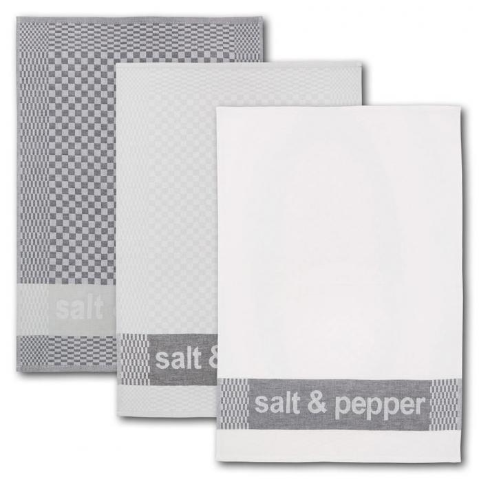 Dyckhoff Geschirrtuch-Set Salt & Pepper