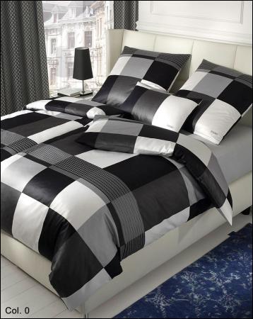 welt der joop mako satin bettw sche plaza squares 4051. Black Bedroom Furniture Sets. Home Design Ideas