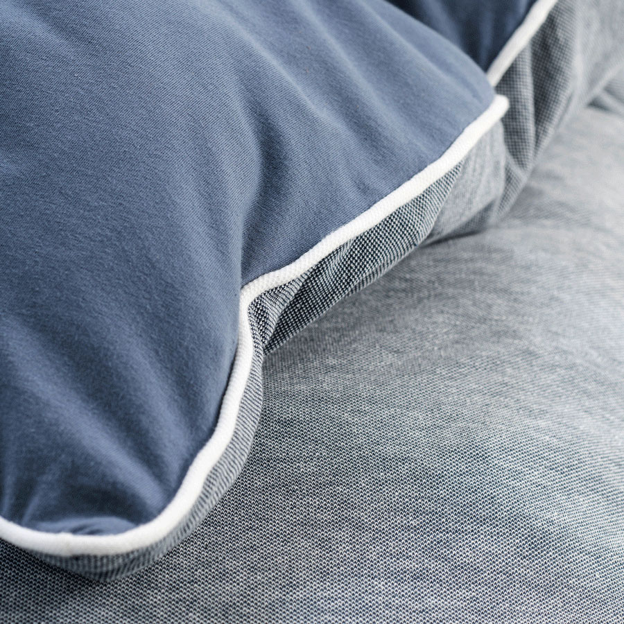 Welt Der Decken De Walra Pique Jersey Bettwasche Midnight Knit