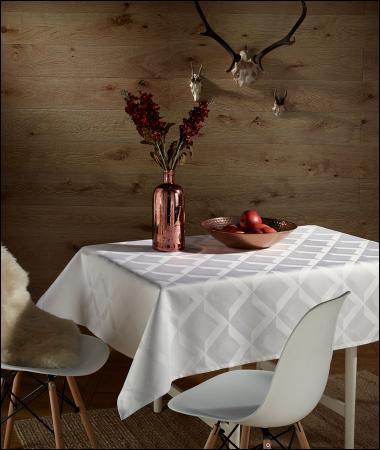 welt der curt bauer damast tischw sche carr 3461 perlwei. Black Bedroom Furniture Sets. Home Design Ideas