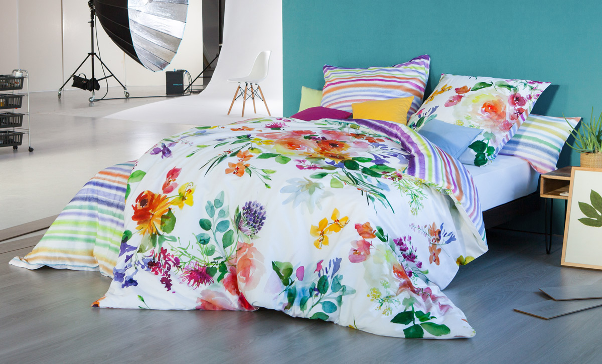 Artikelbildvorschau Estella Satin-Bettwäsche Impulse Flower Power (4714)